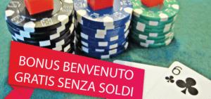 tutti i bonus benvenuto senza deposito per i nuovi casino online