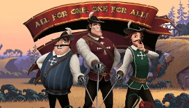 the three musketeers slot Playtech