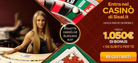 Sisal casino bonus benvenuto
