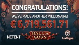 Casino per cellulare LeoVegas: vincita da 6,7 milioni di euro