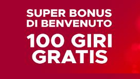 Bonus benvenuto BetClic: 100 giri gratis