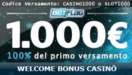 100% fino a 1000€ con il Bonus Benvenuto BetFlag