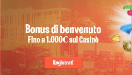 70 giri gratis e fino a 1000€ nel nuovo bonus di benvenuto LeoVegas