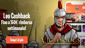 Leovegas cashback: un bonus fino al 150€ sulle vostre perdite alle slot