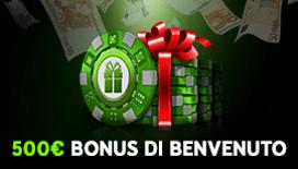 Nuovi bonus benvenuto casino